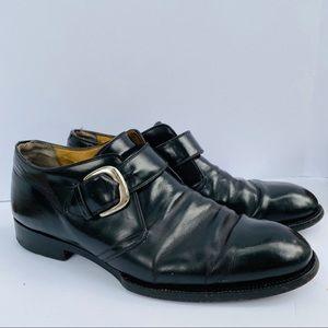 Cole Haan Monk Strap Black Leather Dress Shoes